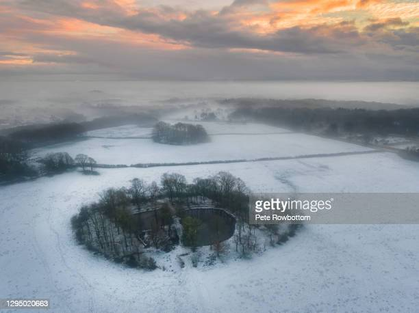winter wonderland - lancashire stock pictures, royalty-free photos & images