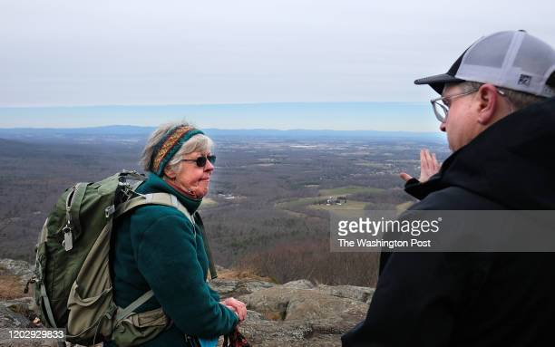 Wintergreen, VA - Feb. 19: Lynn Cameron a board member of the Virginia Wilderness Committee and Gregory Buppert, a senior attorney with the Southern...
