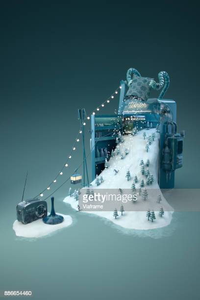 wintermaschine - hoch - frigo humour photos et images de collection