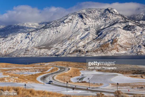 winter's glory - kamloops stock pictures, royalty-free photos & images