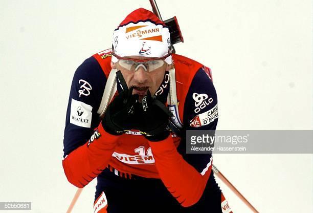 Wintersport / Biathlon WM 2004 Oberhof Einzel / Maenner Raphael POIREE / FRA gewinnt die Goldmedaille 120204