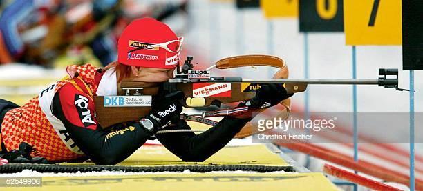 Wintersport / Biathlon WM 2004 Oberhof Frauen / Training Kati WILHELM / GER 050204