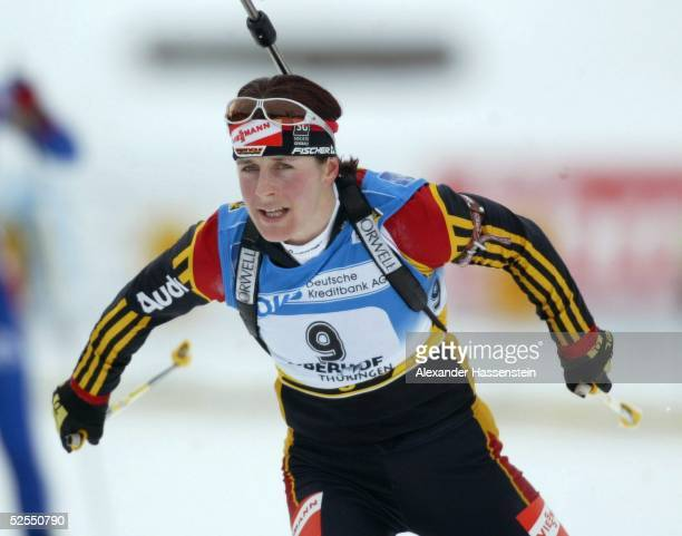 Wintersport / Biathlon: WM 2004, Oberhof; Massenstart / Frauen; Uschi DISL / GER 14.02.04.