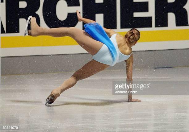 Wintersport / Eiskunstlauf DM 2004 Berlin Damen Kurzprogramm Christiane BERGER 020104