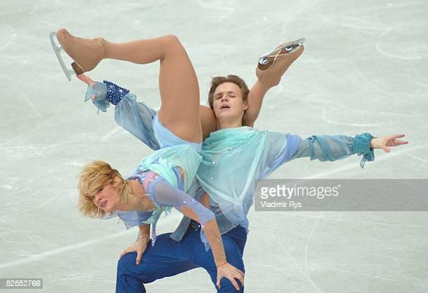 Wintersport / Eiskunstlauf: WM 2004, Dortmund; Kuer Eistanz; Albena DENKOVA, Maxim STAVISKI / BUL 26.03.04.
