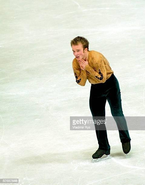 Wintersport / Eiskunstlauf WM 2004 Dortmund Kuer Maenner Jubel Stefan LINDEMANN / GER 250304