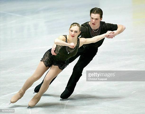 Wintersport / Eiskunstlauf WM 2004 Dortmund Kurzprogramm Paare Diana RENNIK und Aleksei SAKS / EST 220304