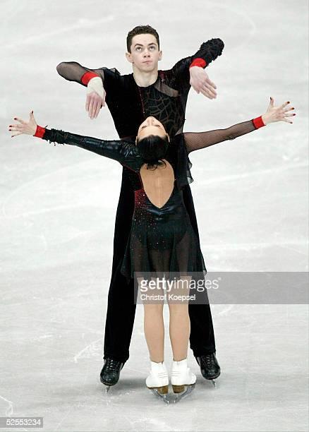 Wintersport / Eiskunstlauf WM 2004 Dortmund Kurzprogramm Paare Olga BOGUSLAVSKA und Andrei BROVENKO / LAT 220304