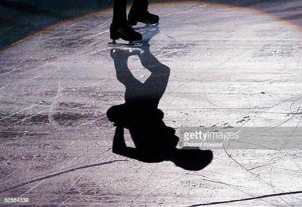 Wintersport / Eiskunstlauf: WM 2004, Dortmund; Schaulaufen; Spezial; Schatten 28.03.04.