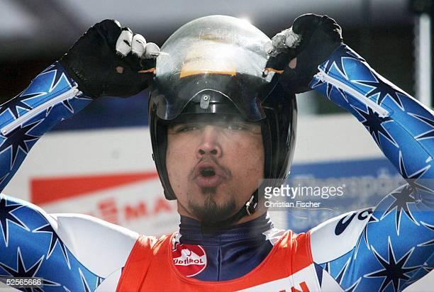 Wintersport / Rodeln: WC 04/05, Oberhof; Einzel Herren; Shiva KESHAVAN / IND 02.01.05.