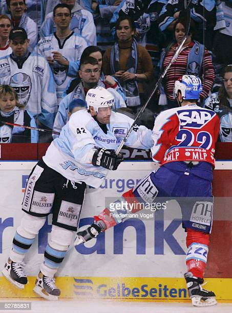 Wintersport/Eishockey DEL 04/05 Hamburg 280105Hamburg Freezers Adler Mannheim Clayton YOUNG/Freezers Michael BAKOS