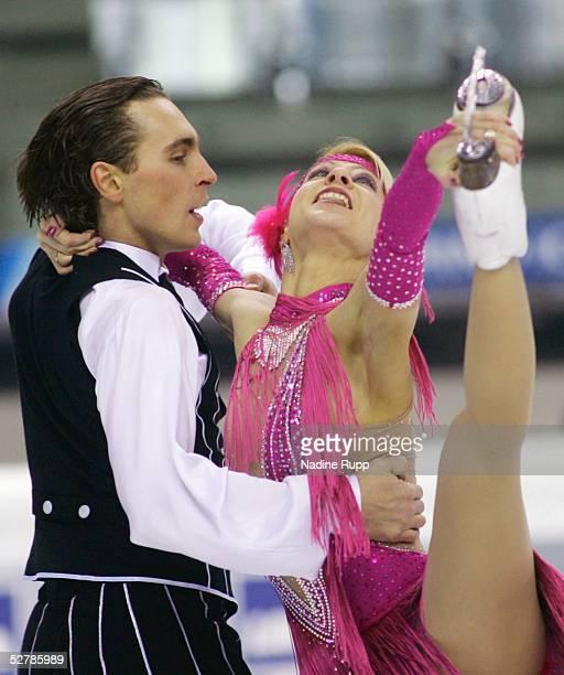 Wintersport/Eiskunstlauf : EM 2005, Turin, 27.01.05;Eistanz Originaltanz;Elena GRUSHINA - Ruslan GONCHAROV/UKR