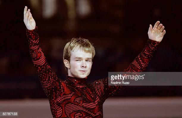 Wintersport/Eiskunstlauf EM 2005 Turin 270105Maenner Kuer3 Platz Jubel Stefan LINDEMANN/GER