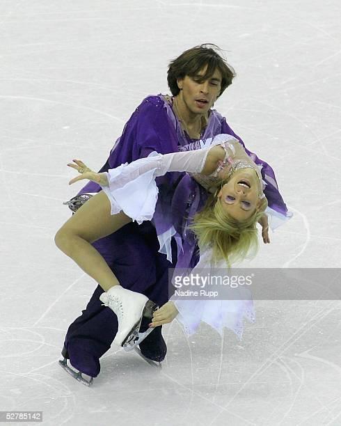 Wintersport/Eiskunstlauf EM 2005 Turin 280105Eistanz Kuer2 Platz Elena GRUSHINA Ruslan GONCHAROV/UKR SILBER
