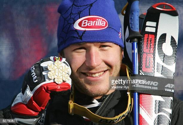 Wintersport/Ski Alpin WM 2005 Bormio 290105Super G/MaennerSieger Bode MILLER/USA