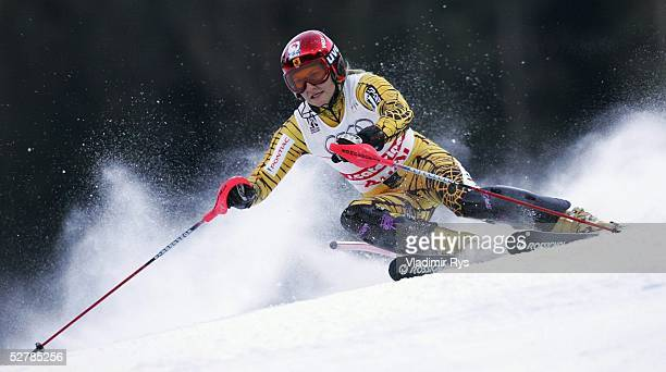Wintersport/Ski Alpin WM 2005 Santa Caterina 040205Slalom Kombination/FrauenBrigitte ACTON/CAN