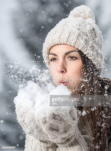 Frau Winter Schneegestöber