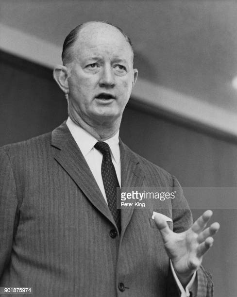 Winton M Blount the US Postmaster General addresses a press conference in London at the end of his fiveday visit to observe the British postal system...