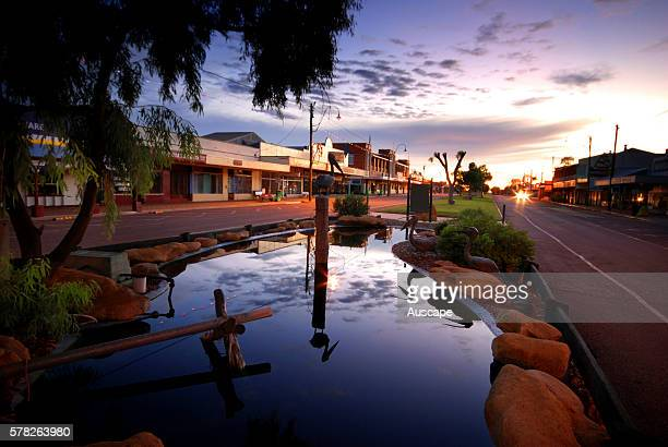 Winton street scene originally named Pelican Waterhole the outback town is best known as the place where AB Banjo Paterson wrote 'Waltzing Matilda'...