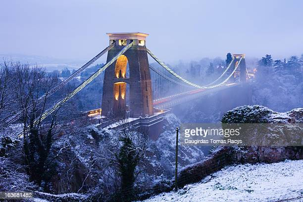 Wintry Clifton bridge