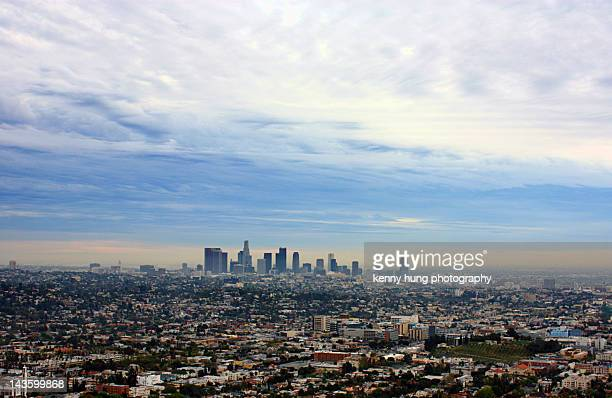 wintry sky of cityscape