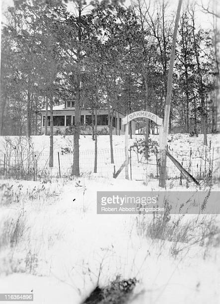 Wintry view of the entrance gate to the Oakmere Hotel Idlewild Michigan 1938 The hotel was founded by AfricanAmerican Dr Daniel Hale Williams a...