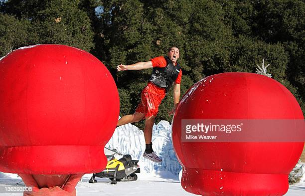 WIPEOUT Wipeout Winter Wipeout Ice Ice Baby Host John Henson says 'Winter Wipeout' so naughty it's nice In order for contestants to get their mittens...