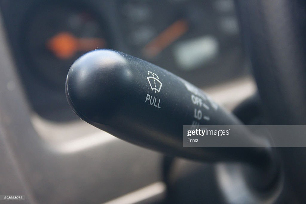 wiper of older cars. : Stock Photo