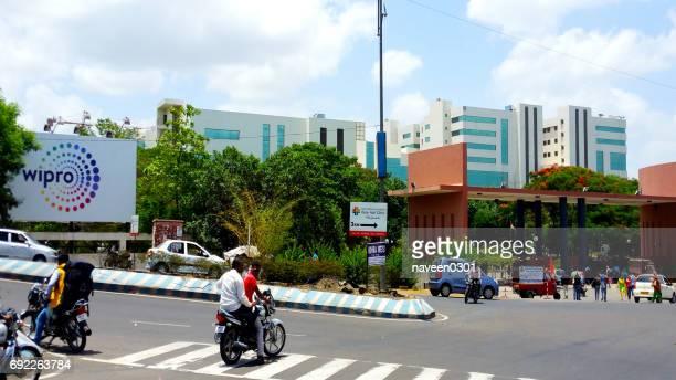プーナ、インドのウィプロ it 企業事務所 - ハイデラバード ストックフォトと画像
