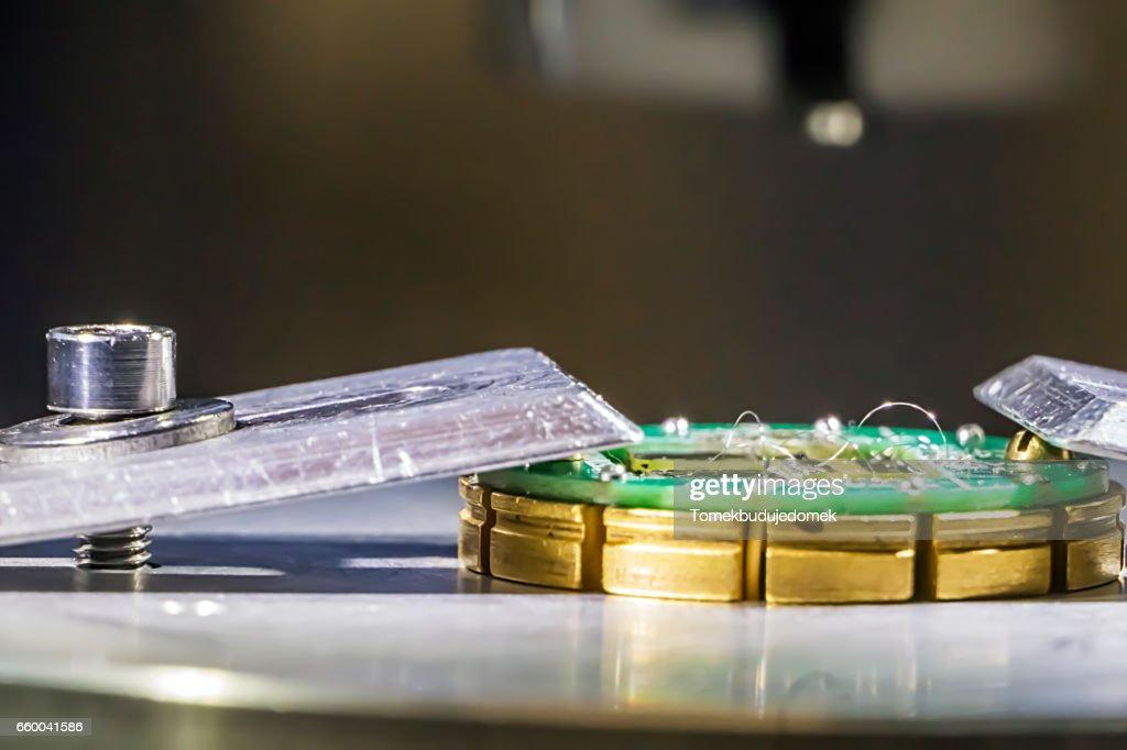 Wire Bonding : Stock Photo