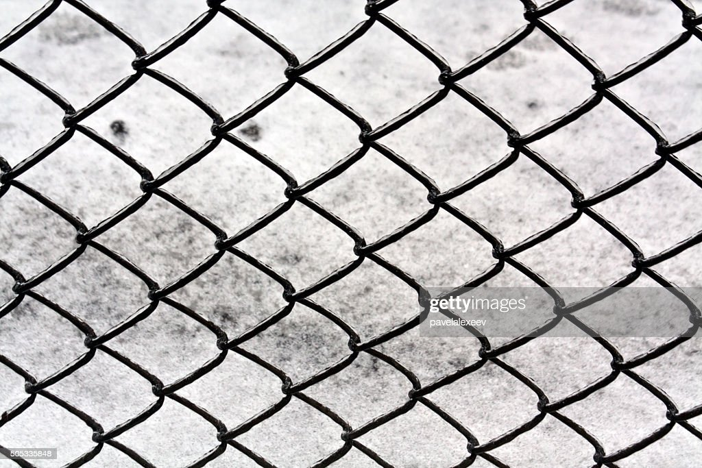 Wire Fence And Snow Texture Stock Photo | Getty Images