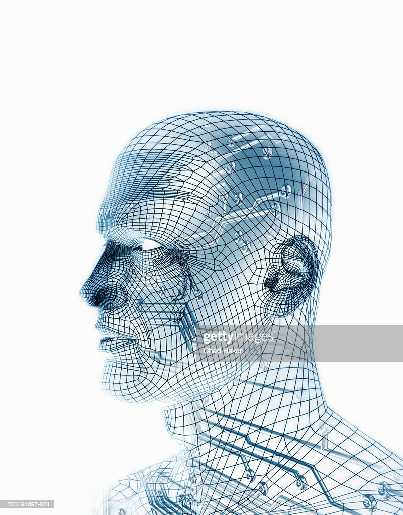 Wire Frame Man With Circuit Board Stock Photo | Getty Images