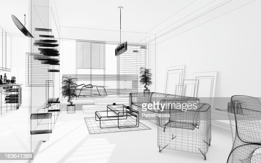 Wireframe 3d modern interior blueprint render image architecture wireframe 3d modern interior blueprint render image architecture abstract stock photo getty images malvernweather