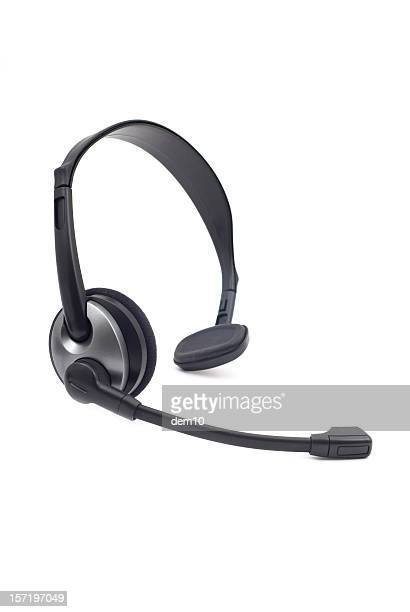 wireless headset - headset stock pictures, royalty-free photos & images