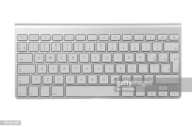 wireless keyboard - computertoetsenbord stockfoto's en -beelden