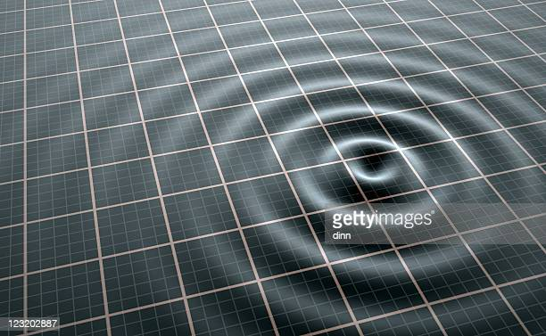 wireless wave broadcast visualization - earthquake stock pictures, royalty-free photos & images