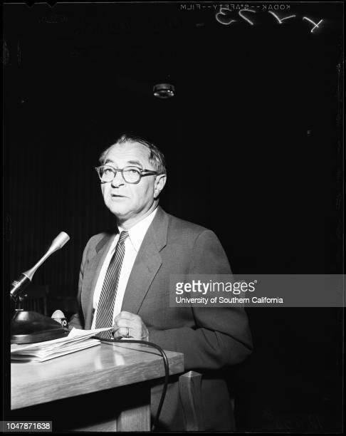 Wiretapping 28 November 1956 AL CoffeyAL WirinGeorge AndersonPeter J PitchessEugene BiscailuzCaption slip reads 'Photographer Gray Date Reporter...
