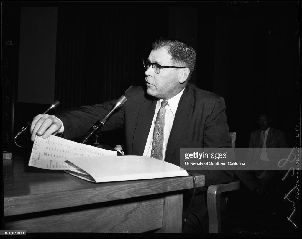 Wiretapping (county), 1956 : News Photo