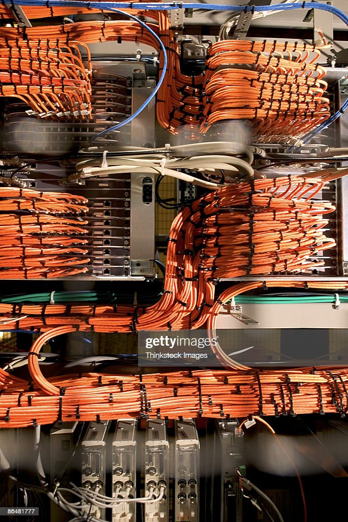 Groovy Wiring On Computer Server Rack Stock Photo Getty Images Wiring Digital Resources Funapmognl
