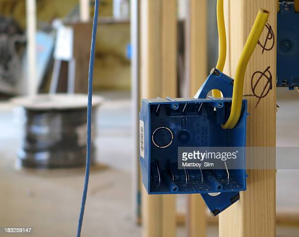 wiring project - electrical box stock pictures, royalty-free photos & images
