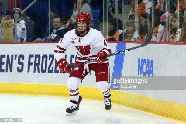 Wisconsin Badgers defenseman Mikaela Gardner during the NCAA women's hockey game between Minnesota Golden Gophers and Wisconsin Badgers on March 24...