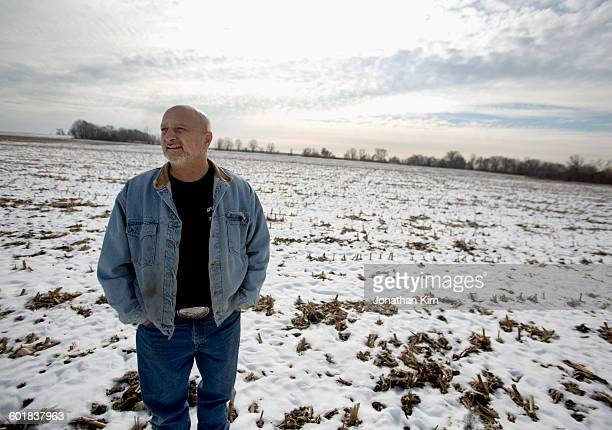wisconsin farmer in winter. - fully unbuttoned stock pictures, royalty-free photos & images