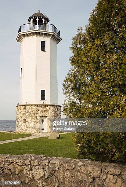 usa, wisconsin, fond du lac, lighthouse - vilas_county,_wisconsin stock pictures, royalty-free photos & images