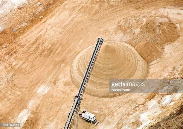 Wisconsin Frac Sand Mine Pile Aerial