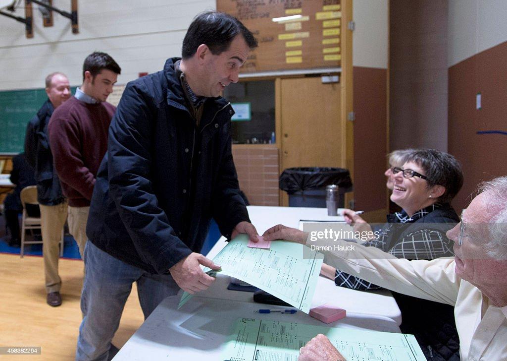Gov. Scott Walker Casts His Ballot On Election Day