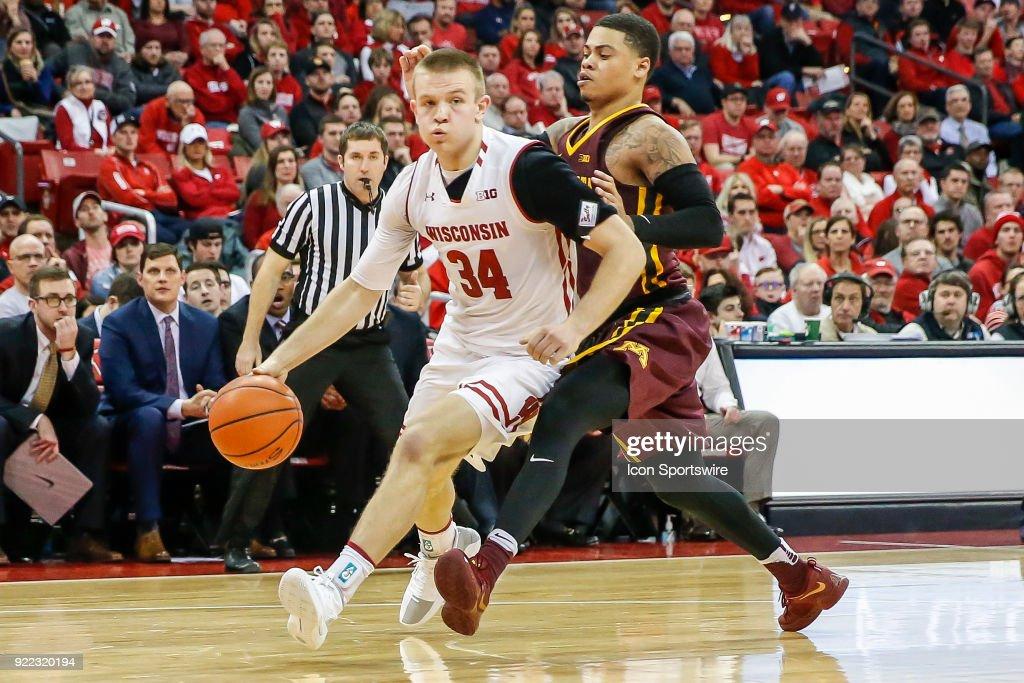 COLLEGE BASKETBALL: FEB 19 Minnesota at Wisconsin : News Photo