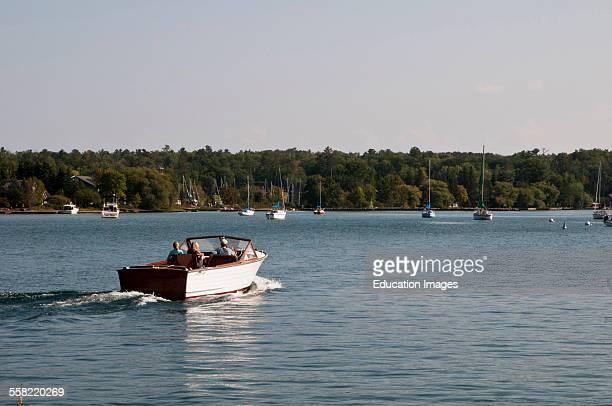 Wisconsin Madeline Island Wooden boat on Lake Superior