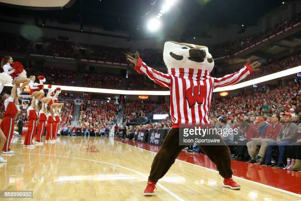 Wisconsin mascot Bucky Badger during a college basketball game between the University of Wisconsin Badgers and the Marquette University Golden Eagles...