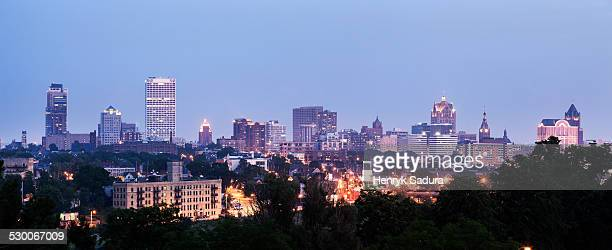 USA, Wisconsin, Milwaukee, Panorama of city