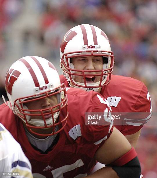 Wisconsin quarterback John Stocco during the game between the Wisconsin Badgers and the Western Illinois Leathernecks at Camp Randall Stadium in...